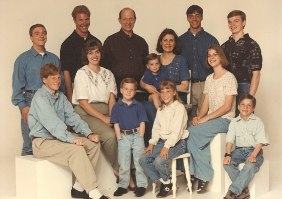 Family group picture of Pediatric Dentist Dr. Todd Baggaley's family