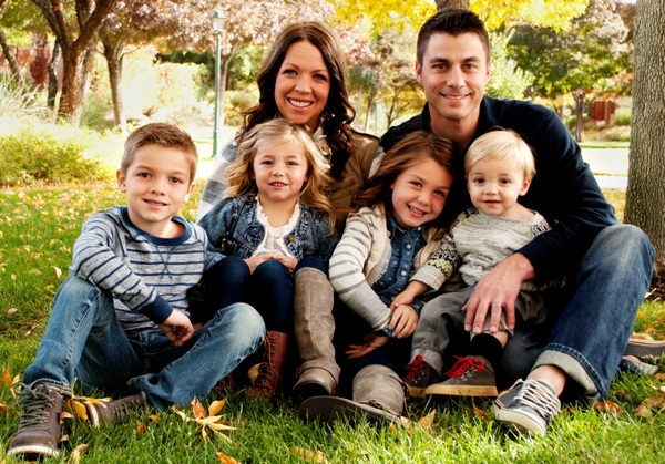 Family photo of Pediatric Dentist Dr. Todd Baggaley